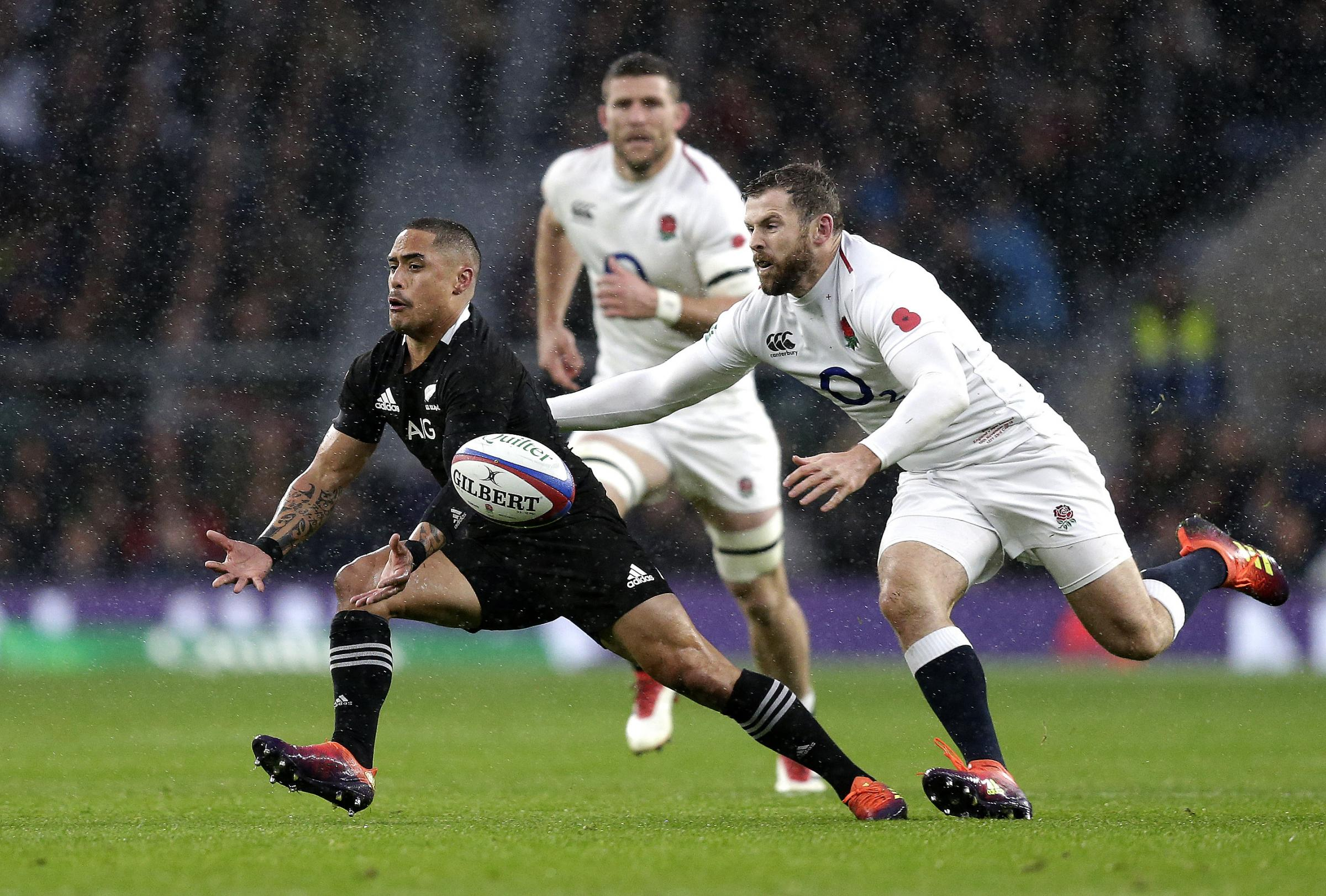 Daly in action against the Kiwis (RFU Collection via Getty Images)