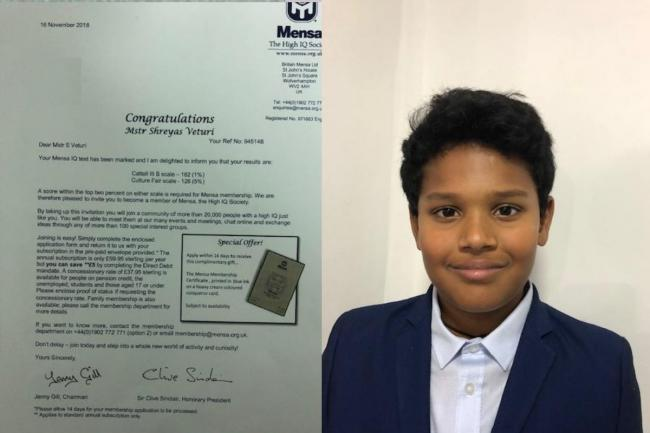 Surbiton boy, 11, gets higher IQ test scores than Albert Einstein