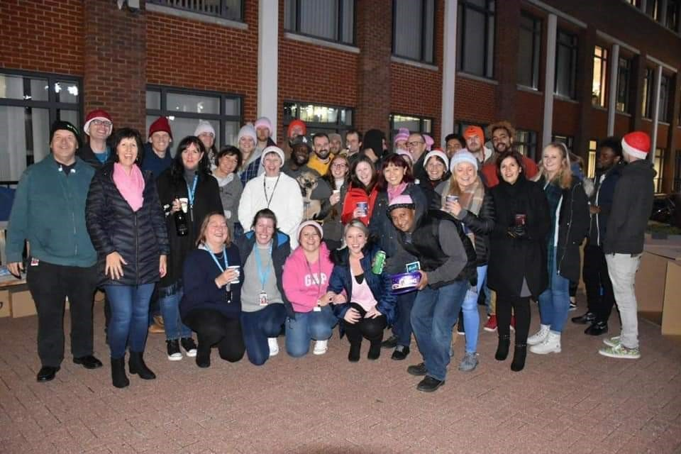 ADP Sleep Out Chertsey 2018