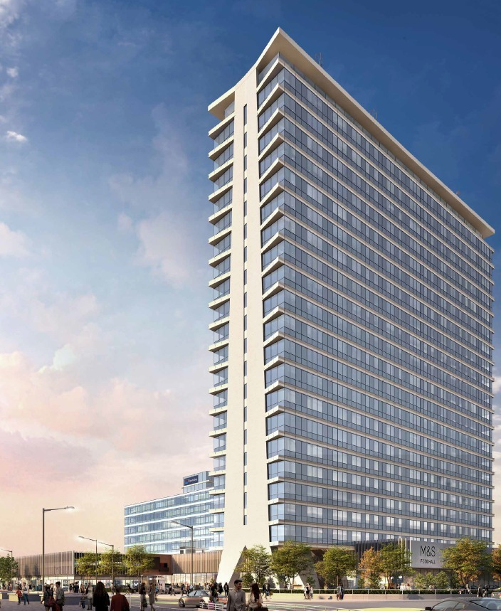 A CGI showing the proposed changes to the outside of Tolworth Tower (picture: Meadow Partners)
