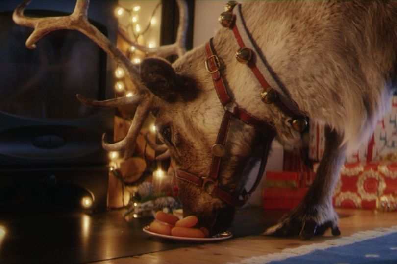 This app lets you record a video of Santa's reindeer enjoying carrots in your living room