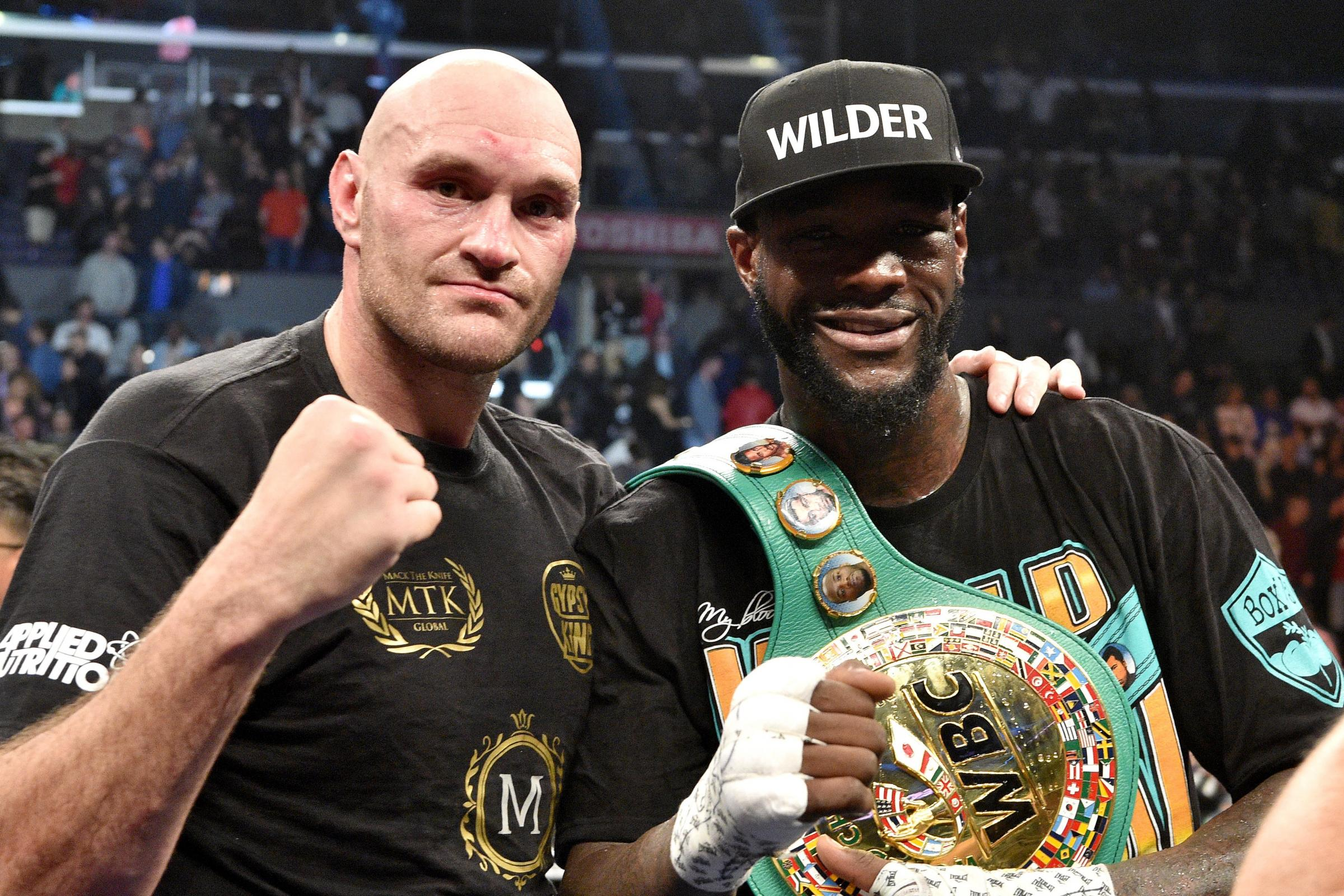 A rematch between Deontay Wilder, right, and Tyson Fury is likely to take place in the first half of 2019 (Lionel Hahn/PA)