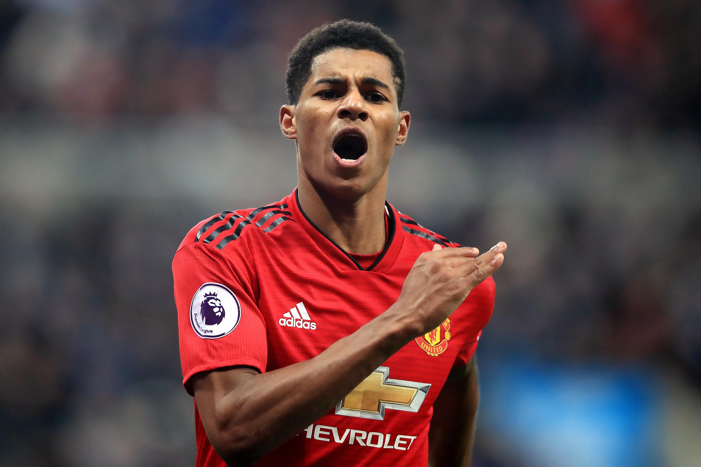 Marcus Rashford, pictured, has scored three times in his last four starts