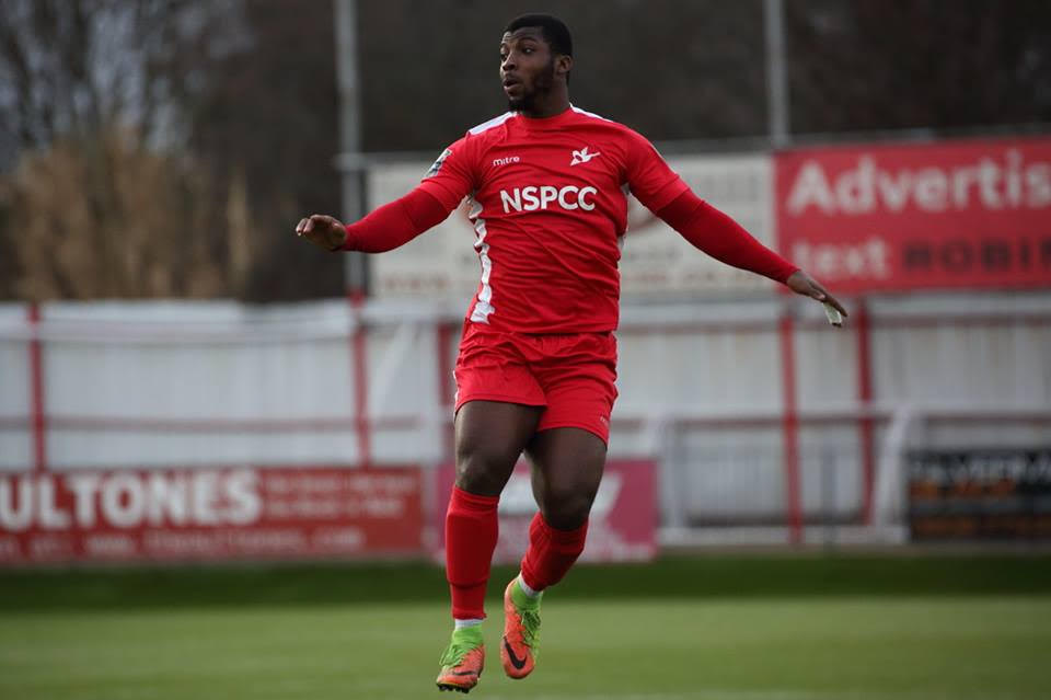 Mike Dixon scored the second goal in Carshalton Athletic's 4-1 win over Salisbury. Photo: Chris Bushe