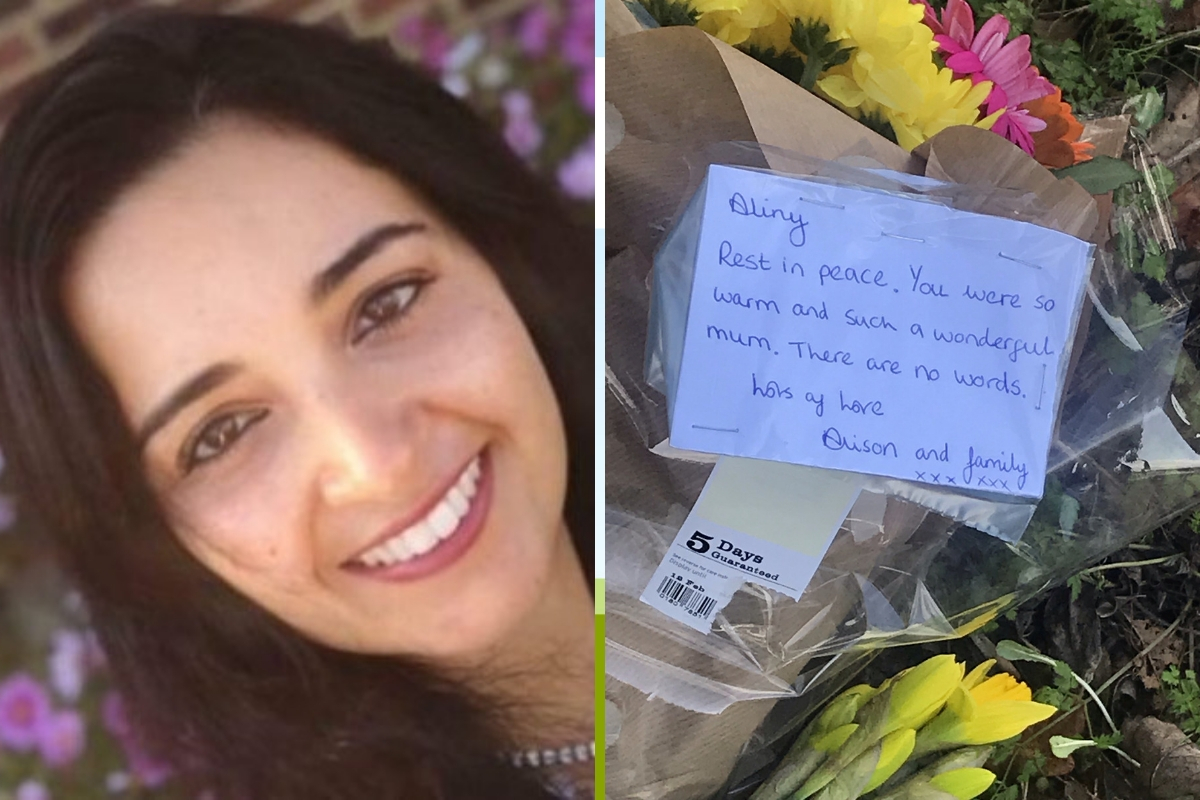 Floral tributes to Aliny Mendes have been left