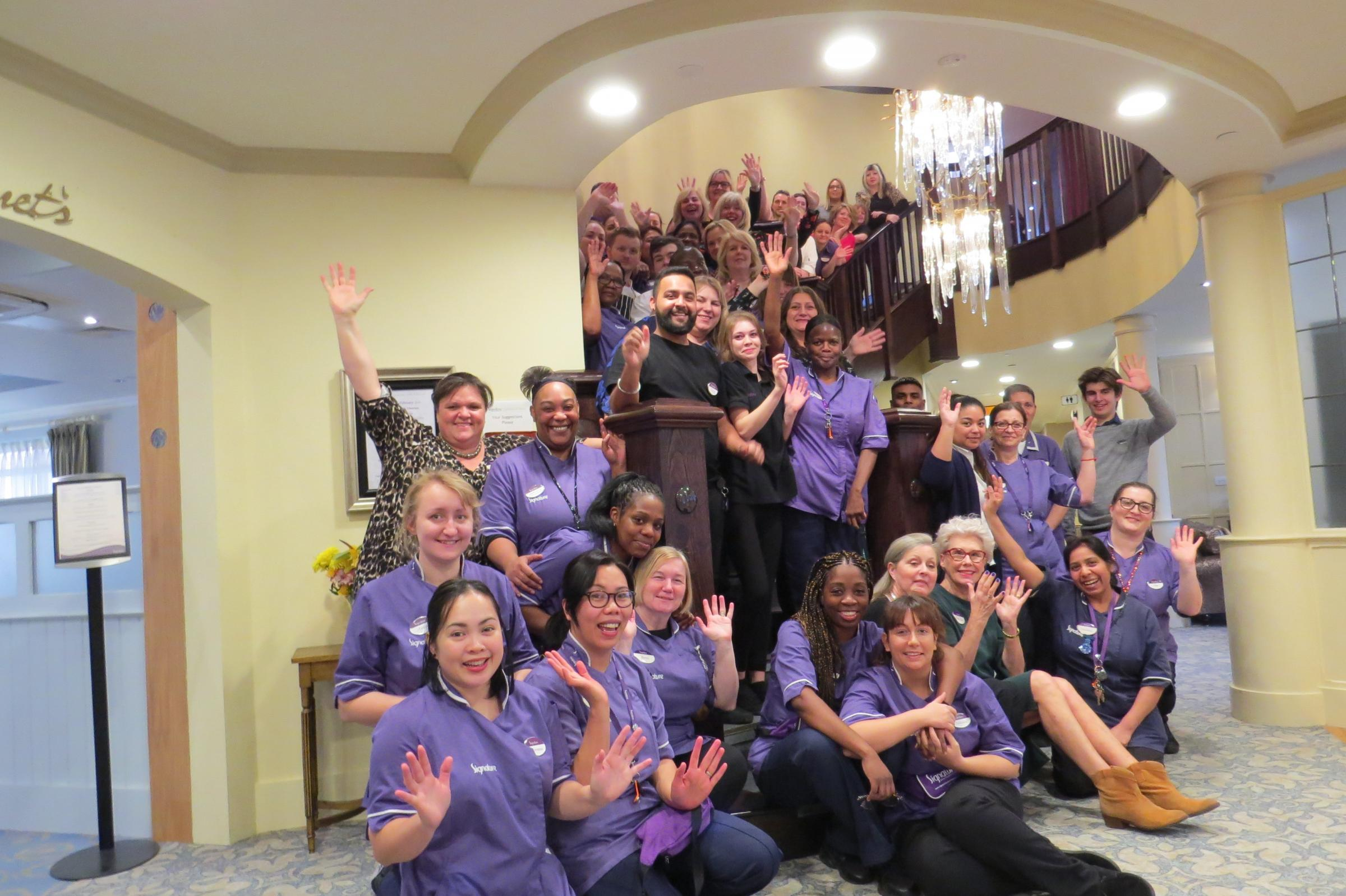 Staff at Coombe Hill Manor care home