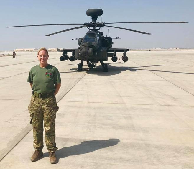 CSH Surrey's executive business manager and senior aircraftman Sam Stevens on deployment in the Middle East