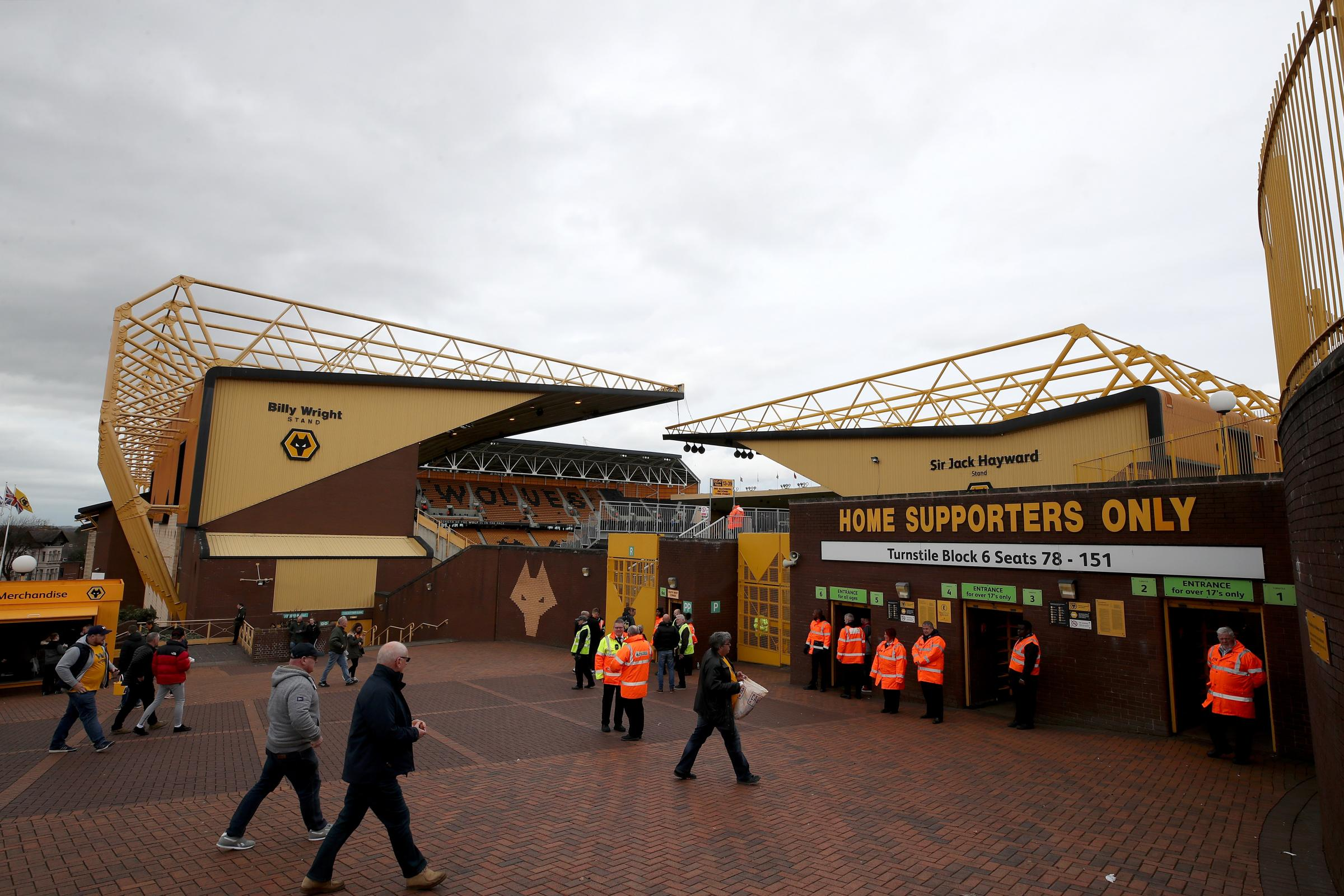 Outside Molineux