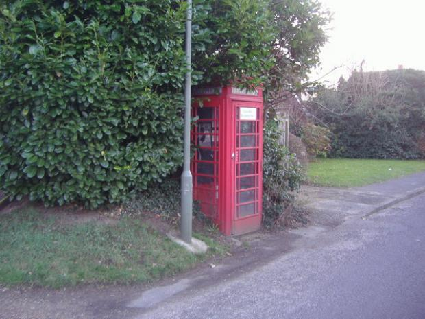 Surrey Comet: Phone box, Surrey. Image: © Copyright David Howard CC via geograph.org.uk