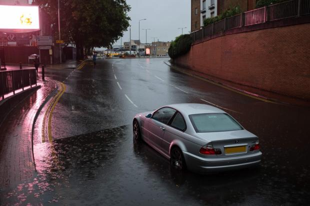 Surrey Comet: Flooding in Kingston on Monday night. Image: Ollie Monk